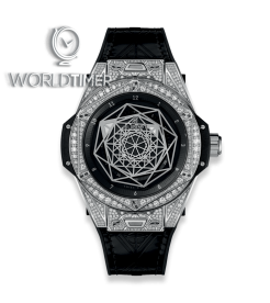 Hublot [NEW] Big Bang Sang Bleu Steel Pavé 465.SS.1117.VR.1704.MXM18 (Retail:EUR 21700)