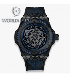 HUBLOT [NEW][LIMITED 100] BIG BANG SANG BLEU ALL BLACK BLUE 39mm 465.CS.1119.VR.1201.MXM18