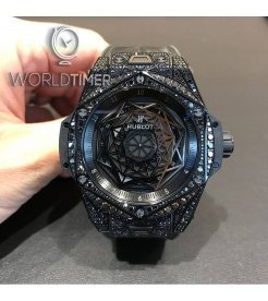 Hublot [NEW] Black Ceramic Sang Bleu Mens 415.CX.1114.VR.1700.MXM17