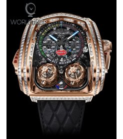 Jacob & Co. 捷克豹 [NEW] Twin Turbo Furious Bugatti Baguette Rose Gold Watch