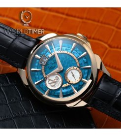 Jacob & Co. 捷克豹 [NEW] Palatial Classic Manual Big Date Mineral Crystal Dial Steel PC400.10.NS.MB.A (Retail:HK$109,800)