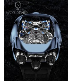 Jacob & Co. 捷克豹 [NEW] Bugatti Chiron Blue Titanium Tourbillon