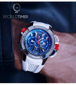 Jacob & Co. 捷克豹 [NEW] EPIC-X Chrono Messi Baguette EC423.32.OE.LL.J (Retail:HK$1,650,000)