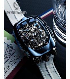 Jacob & Co. 捷克豹 [NEW] Bugatti Chiron Blue Titanium Tourbillon