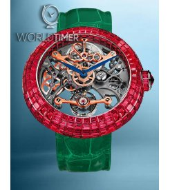 Jacob & Co. 捷克豹 [NEW][LIMITED 18 PIECE] Brilliant Skeleton Full Baguette Ruby BS530.30.BR.CB.A