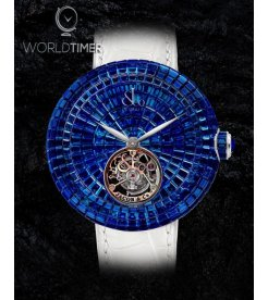 Jacob & Co. 捷克豹 [NEW][LIMITED 18 PIECE] Brilliant Flying Tourbillon Blue Sapphire BT543.30.BB.BB.B (Retail:HK$4,868,000)