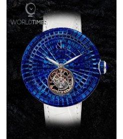Jacob & Co. 捷克豹 [NEW][LIMITED 18 PIECE] Brilliant Flying Tourbillon Blue Sapphire BT543.30.BB.BB.B (Retail:HK$4,868,000)