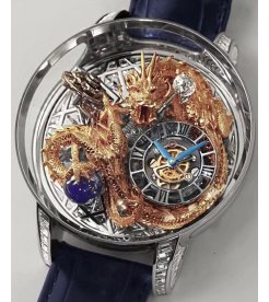 Jacob & Co. 捷克豹 Astronomia Tourbillon Dragon Baguette White Gold AT802.30.BD.UA.A (Retail:HK$11,264,000)