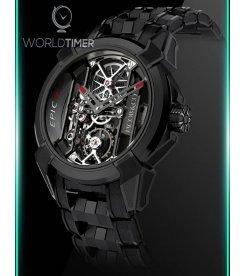 Jacob & Co. 捷克豹 [NEW] Epic X Black Titanium Bracelet EX100.21.PS.OP.A21AA (Retail:HK$181,400)