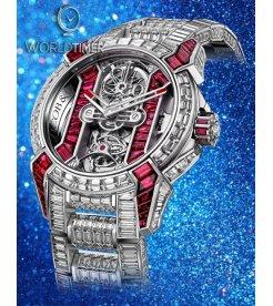 Jacob & Co. 捷克豹 [NEW][LIMITED 6 PIECE] Epic X Tourbillon Bracelet EX500.30.BD.BR.A30BA (Retail:HK$10,881,300)