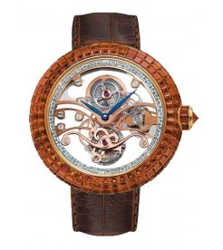 Jacob & Co.捷克豹 [NEW] Brilliant Skeleton Tourbillon Orange BT542.50.BO.RB.A (Retail:HK$6,299,700)