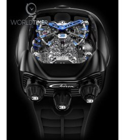 Jacob & Co. 捷克豹 [NEW] Bugatti Chiron 16 Cylinder Piston Engine Tourbillon BU200.21.AE.AB.ABRUA