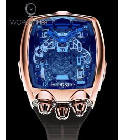 Jacob & Co. 捷克豹 [NEW MODEL] Bugatti Chiron 16 Cylinder Tourbillon Rose Gold Watch (Retail:HK$2,816,000)