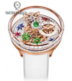 Jacob & Co. 捷克豹 [NEW] Astronomia Fleurs de Jardin White Sapphire Ladies Watch