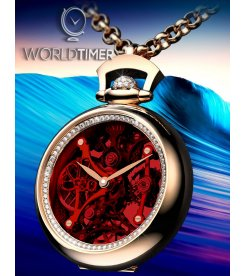 Jacob & Co. 捷克豹 [NEW][LIMITED 101 PIECE] Brilliant Pocket Watch Pendant BS200.40.RD.QR.A (Retail:HK$658,700)