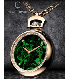 Jacob & Co. 捷克豹 [NEW][LIMITED 101 PIECE] Brilliant Pocket Watch Pendant Green BS200.40.RD.QG.A (Retail:HK$658,700)