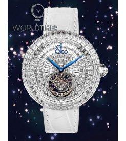 Jacob & Co. 捷克豹 [NEW][LIMITED 18 PIECE] Brilliant Flying Tourbillon White Diamonds BT543.30.BD.BD.B (Retail:HK$6,395,200)