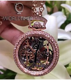 Jacob & Co. 捷克豹 [NEW] Brilliant Pocket Watch Pendant Pave BS231.40.RD.RD.A (Retail:HK$1,126,400)