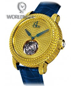 Jacob & Co. 捷克豹 [NEW][UNIQUE] Caviar Tourbillon Pave Yellow Diamonds CV201.50.RY.RY.A (Retail:HK$4,008,900)