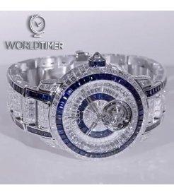 Jacob & Co. 捷克豹 [NEW] Caviar Tourbillon 44mm Blue Diamond Bracelet (Retail:HK$13,200,000)