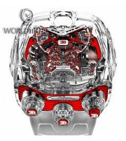 Jacob & Co. 捷克豹 [NEW] Bugatti Chiron 16 Sapphire Cylinder Piston Engine Tourbillon
