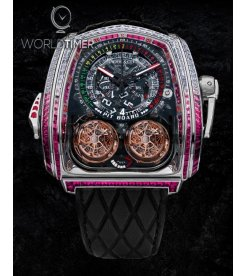 Jacob & Co. 捷克豹 [NEW] Twin Turbo Furious Baguette in White Diamonds and Ruby TT800.30.BB.UA.A