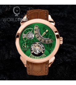 Jacob & Co. 捷克豹 [NEW] Palatial Flying Tourbillon Jumping Hours Green PT510.40.NS.PR.A (Retail:HK$1,276,000)