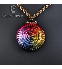 Jacob & Co. 捷克豹 [NEW MODEL] Brilliant Full Baguette Rainbow Pocket Watch Pendant