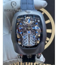 Jacob & Co. 捷克豹 [NEW] Bugatti Chiron 16 Cylinder Piston Engine Tourbillon BU200.20.AE.AB.ABRUA