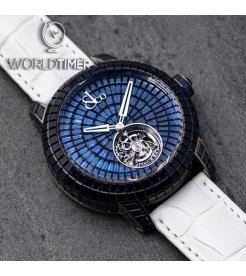 Jacob & Co. 捷克豹 [NEW][LIMITED 18 PIECE] Caviar Tourbillon Blue 47mm CV201.30.BB.BB.A (Retail:HK$6,967,900)