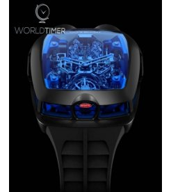 Jacob & Co. 捷克豹 [NEW] Bugatti Chiron Blue 16 Cylinder Tourbillon (Retail:US$280,000)