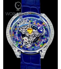 Jacob & Co. 捷克豹 [NEW MODEL] Astronomia Solar Baguette Arlequino Tourbillon With Multicolour Sapphire