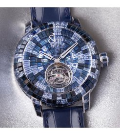 Jacob & Co. 捷克豹 [NEW][UNIQUE] Caviar Tourbillon Camo Blue CV201.30.CB.CB.A (Retail:HK$6,967,500)
