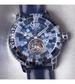 Jacob & Co. 捷克豹 [NEW][UNIQUE] Caviar Tourbillon Camo Blue CV201.30.CB.CB.A (Retail:HK$6,967,500)