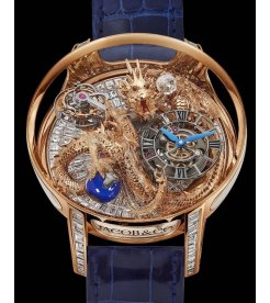 Jacob & Co. 捷克豹 [NEW][UNIQUE] Astronomia Tourbillon Dragon Baguette Rose Gold (Retail:CHF 1'500'000)