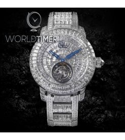 Jacob & Co. 捷克豹 [NEW][LIMITED 18 PIECE] Caviar Tourbillon Diamond Bracelet 44mm CV300.30.BD.BD.A30BA (Retail:HK$12,885,800)