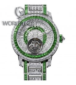 Jacob & Co. 捷克豹 [NEW] Caviar Tourbillon 44mm Emerald