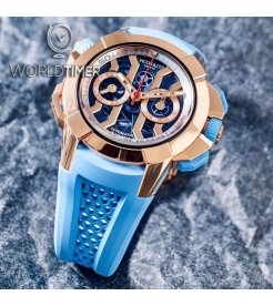 Jacob & Co. 捷克豹 [NEW] Epic X Chrono Sky Blue Limited Edition (Retail:US$48,000)