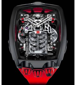 Jacob & Co. 捷克豹 [NEW][LIMITED 250 PIECE] Bugatti Chiron Red 16 Cylinder Piston Engine Tourbillon (Retail:US$280,000)