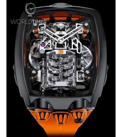 Jacob & Co. 捷克豹 [NEW MODEL] Bugatti Chiron Orange 16 Cylinder Tourbillon (Retail:US$280,000)