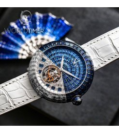 Jacob & Co. 捷克豹 [NEW] Brilliant Flying Tourbillon Arlequino Blue and White Baguette