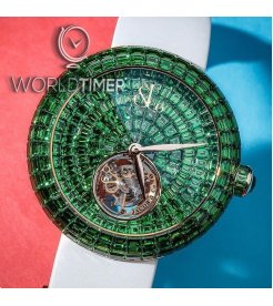 Jacob & Co. 捷克豹 [NEW][LIMITED 18 PIECE] Brilliant Flying Tourbillon Tsavorites Green BT543.40.BZ.BZ.B (Retail:HK$5,280,000)