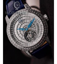 Jacob & Co. 捷克豹 [NEW][LIMITED 18 PIECE] Caviar Tourbillon White Gold CV201.40.BD.BD.A (Retail:HK$8,590,500)