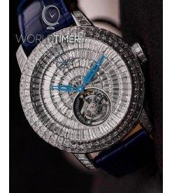 Jacob & Co. 捷克豹 [NEW][LIMITED 18 PIECE] Caviar Tourbillon White Gold CV201.40.BD.BD.A (Retail:HK$8,590,500)