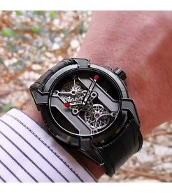 Jacob & Co. 捷克豹 [NEW] EPIC X Tourbillon Black DLC Titanium EX101.21.PS.PP.A (Retail:HK$1,088,200)