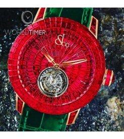 Jacob & Co. 捷克豹 [NEW][LIMITED 3 PIECE] Caviar Tourbillon Ruby CV201.40.BR.UB.A (Retail:HK$14,317,500)