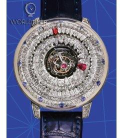 Jacob & Co. 捷克豹 [NEW] The Mystery Tourbillon Blue Sapphires SN800.30.BD.AA.A (Retail: HK$11,880,000)