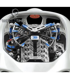 Jacob & Co. 捷克豹 [NEW] Bugatti Chiron Tourbillon White Ceramic Coating BU200.27.AA.UA.ABRUA