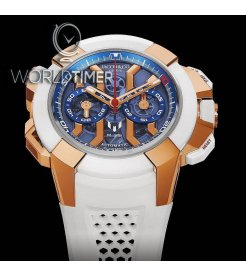 Jacob & Co. 捷克豹 [NEW][LIMITED 180 PIECE] EPIC-X Chrono Messi Rose Gold & Titanium EC313.42.PE.AA.A (Retail:HK$439,100)