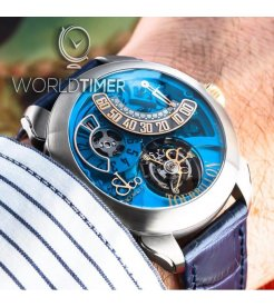 Jacob & Co. 捷克豹 [NEW][LIMITED 36 PIECE] Palatial Flying Tourbillon Jumping Hour Blue PT510.24.NS.PB.A (Retail:HK$1,145,400)